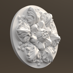 STL модель розетки круглой