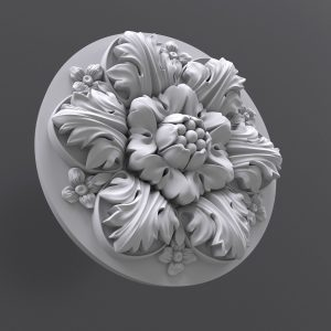 STL модель круглой розетки