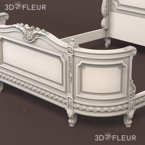 STL модель кровати