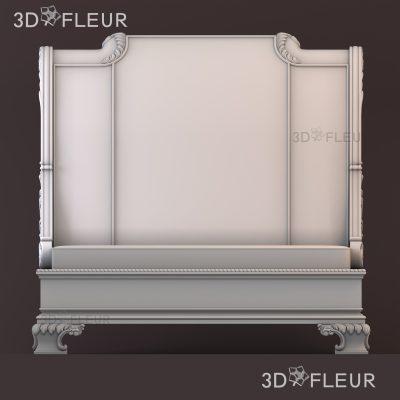 STL модель кровати 02