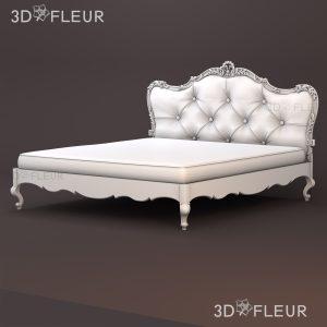 STL модель кровати 04
