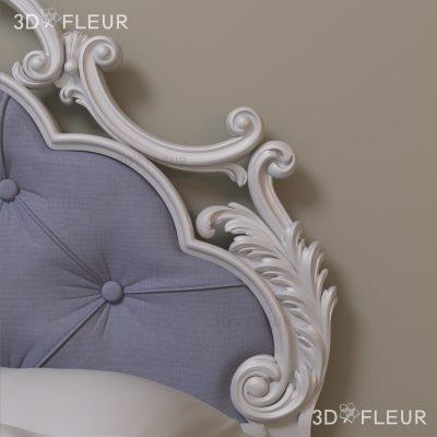 STL модель кровати 05