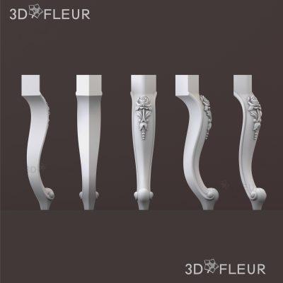 STL модель ножки 01