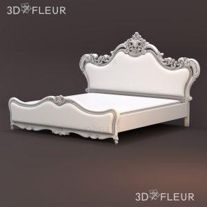 STL модель кровати 011