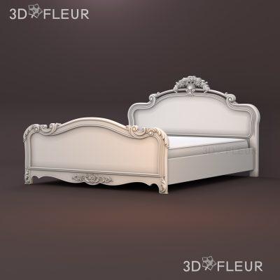 STL модель кровати 08