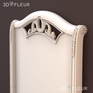 STL модель кровати 09