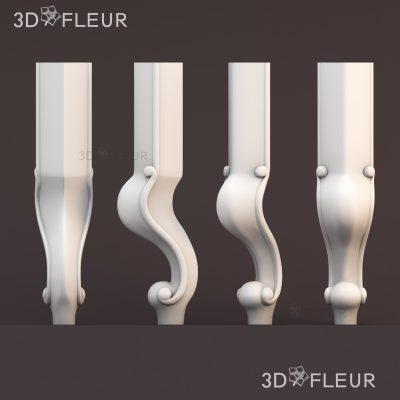 STL модель ножки 05