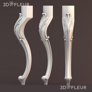 STL модель ножки 07