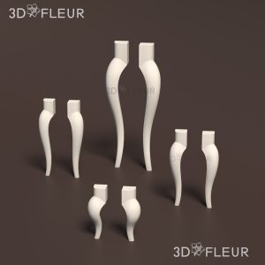 STL модель ножки 09