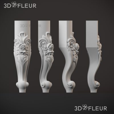 STL модель ножки 013