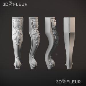 STL модель ножки 014